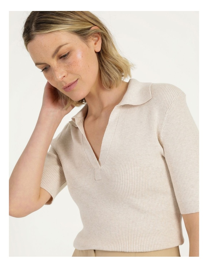 Placket Front Knit Top image 6