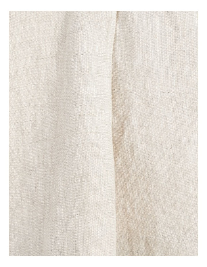 Boxy Oversized Linen Top Natural image 7