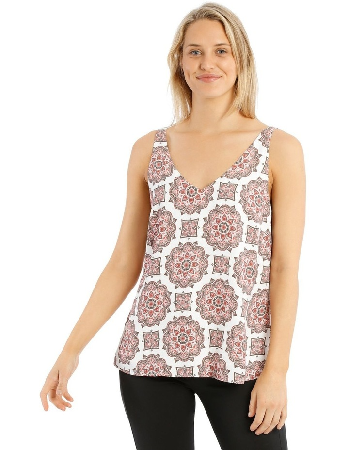 Printed Double Layer Cami image 1