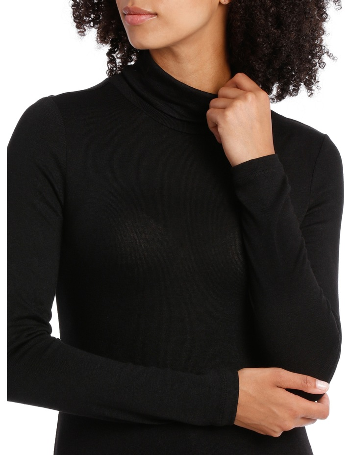 Roll Neck Marle Tee image 4