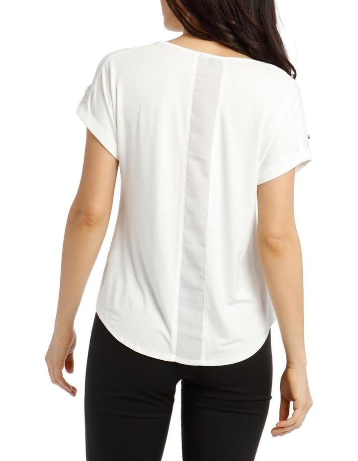Jersey Button Short Sleeve T-Shirt image 3