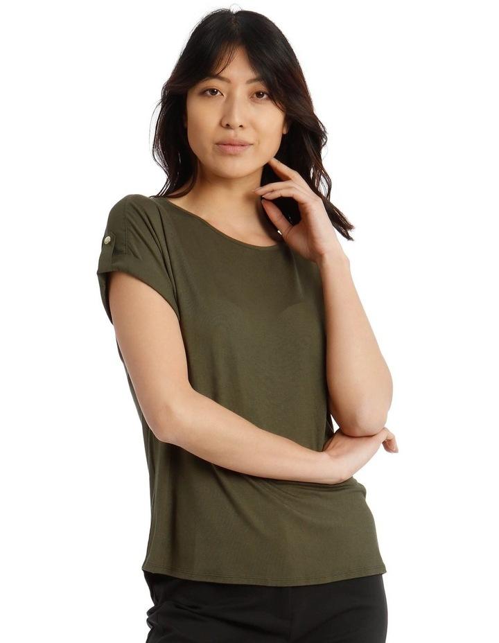 Jersey Button Short Sleeve T-Shirt image 1