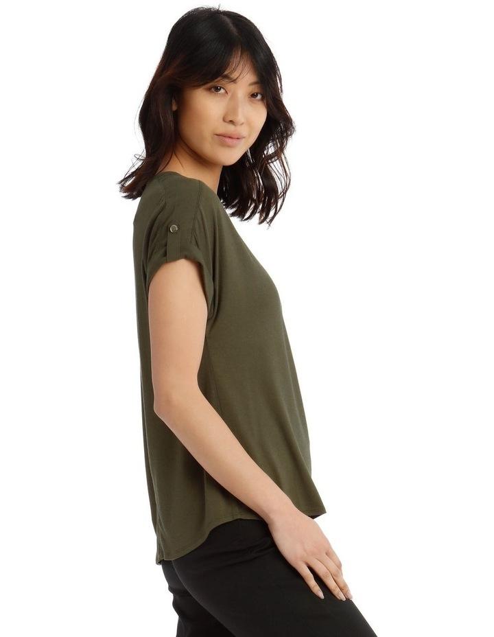 Jersey Button Short Sleeve T-Shirt image 2
