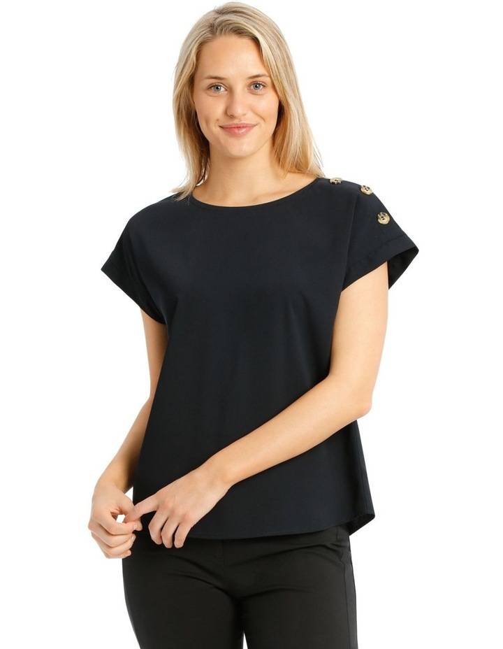 Button Detail Short Sleeve Top image 1