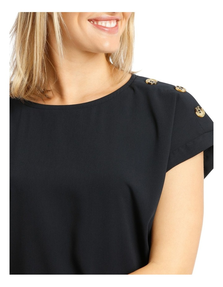 Button Detail Short Sleeve Top image 4