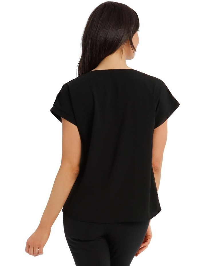 Short-Sleeve Top With Button Detail image 3