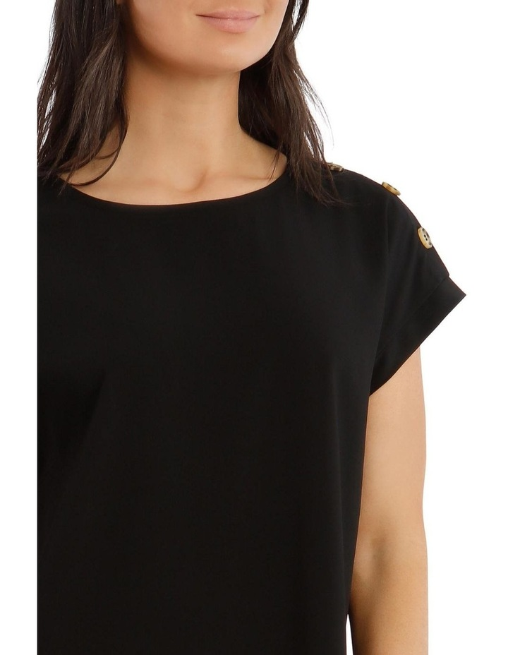 Short-Sleeve Top With Button Detail image 4