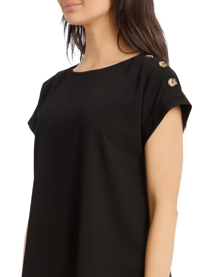 Short-Sleeve Top With Button Detail image 5