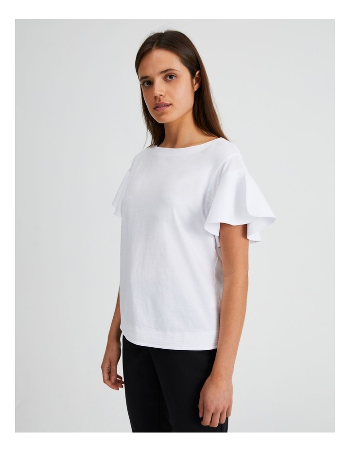 Mercerised Cotton Fluted Sleeve Tee image 1