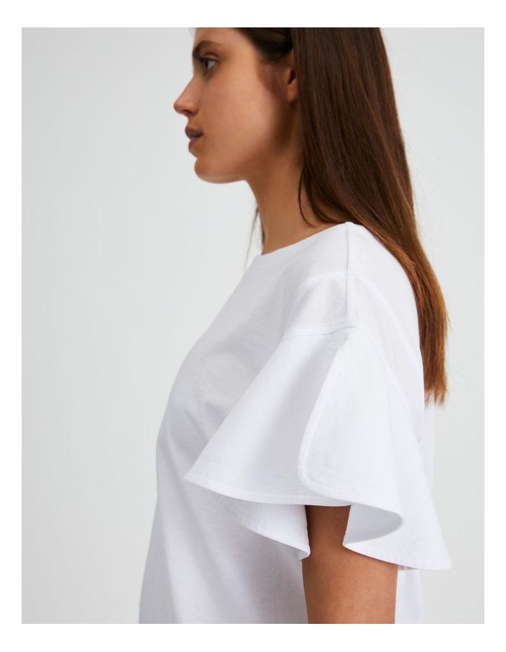 Mercerised Cotton Fluted Sleeve Tee image 5