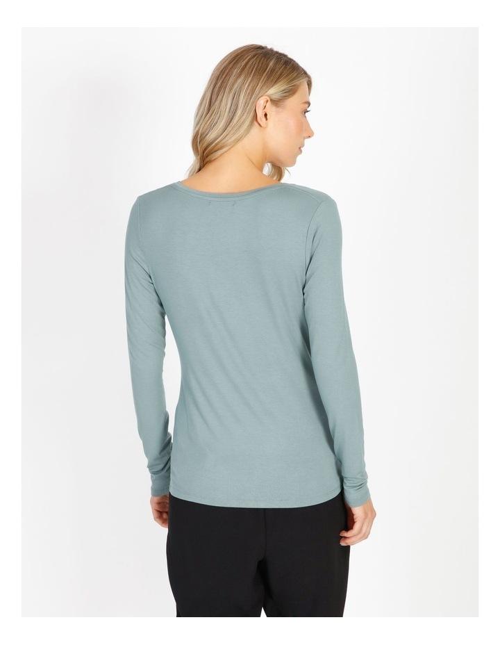 Long Sleeve V-Neck Jersey Top image 3