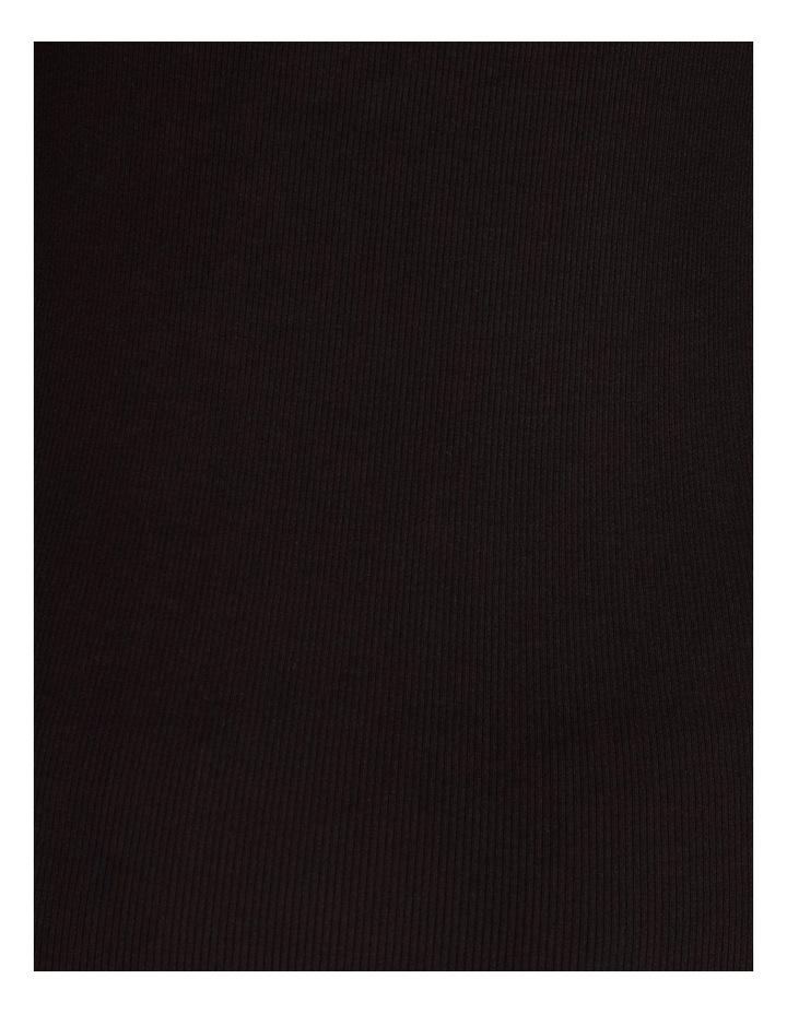 Roll Neck Ribbed Skivvy - Black image 6