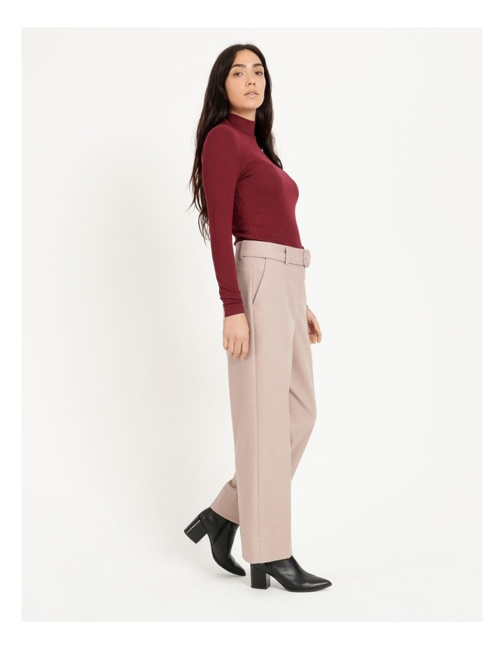 Roll Neck Ribbed Skivvy - Raspberry image 3