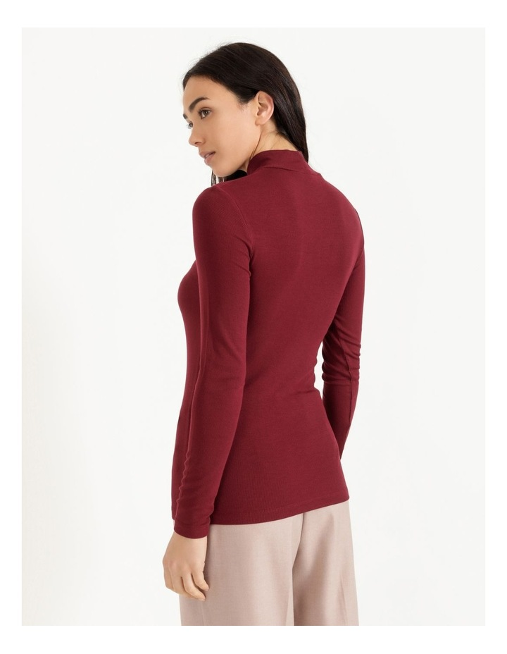 Roll Neck Ribbed Skivvy - Raspberry image 4