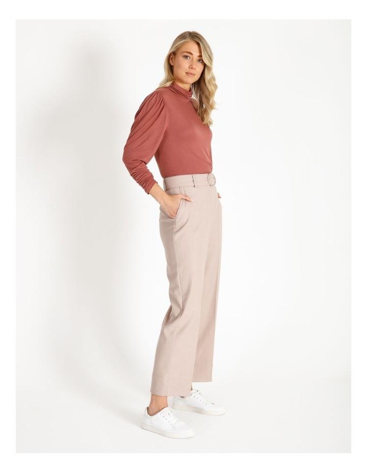 Draped Long Sleeve Jersey Top image 2