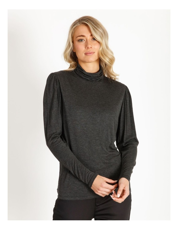 Draped Long Sleeve Jersey Top image 1