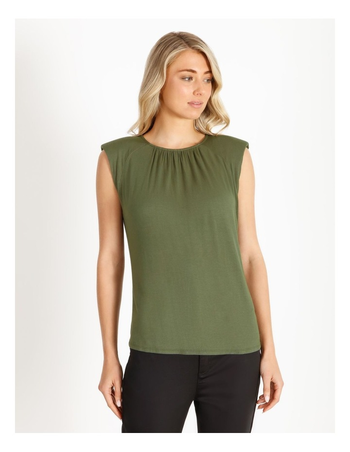 Gathered Neck Jersey Top image 1