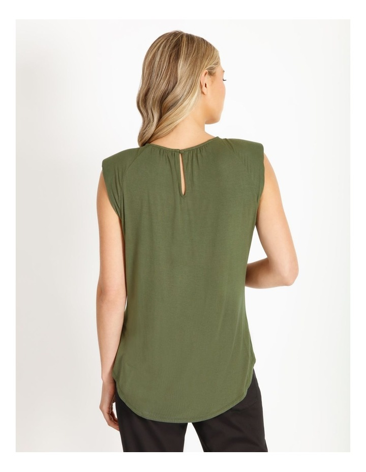 Gathered Neck Jersey Top image 3