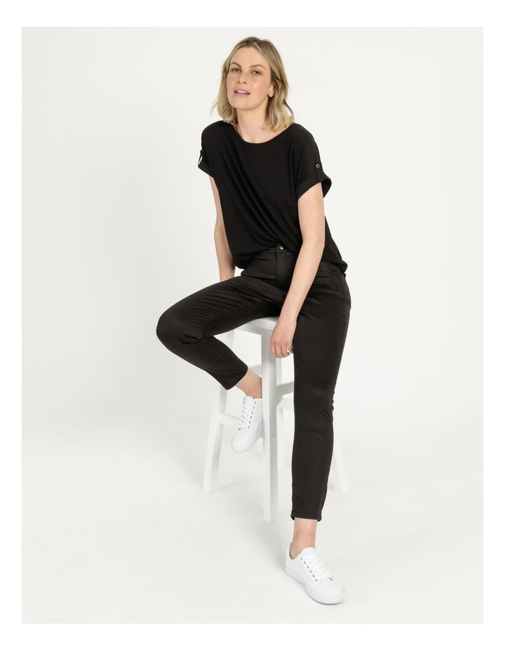 Bamboo Jersey Button Tee Black image 1