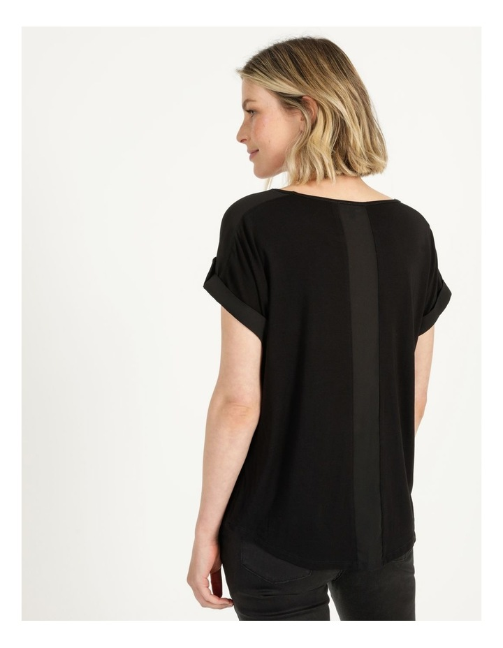 Bamboo Jersey Button Tee Black image 5