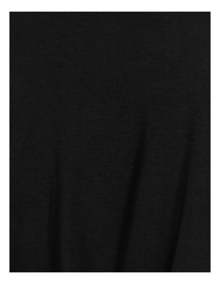 Bamboo Jersey Button Tee Black image 7