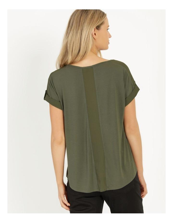 Bamboo Jersey Button Tee Khaki image 6