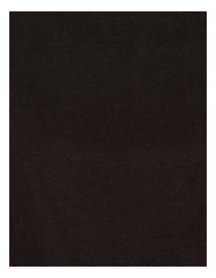 Mercerised Cotton Flutter Sleeve Tee Black image 7