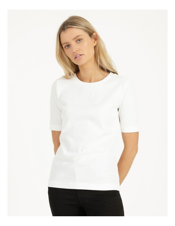 Ribbed T-Shirt Ecru image 2