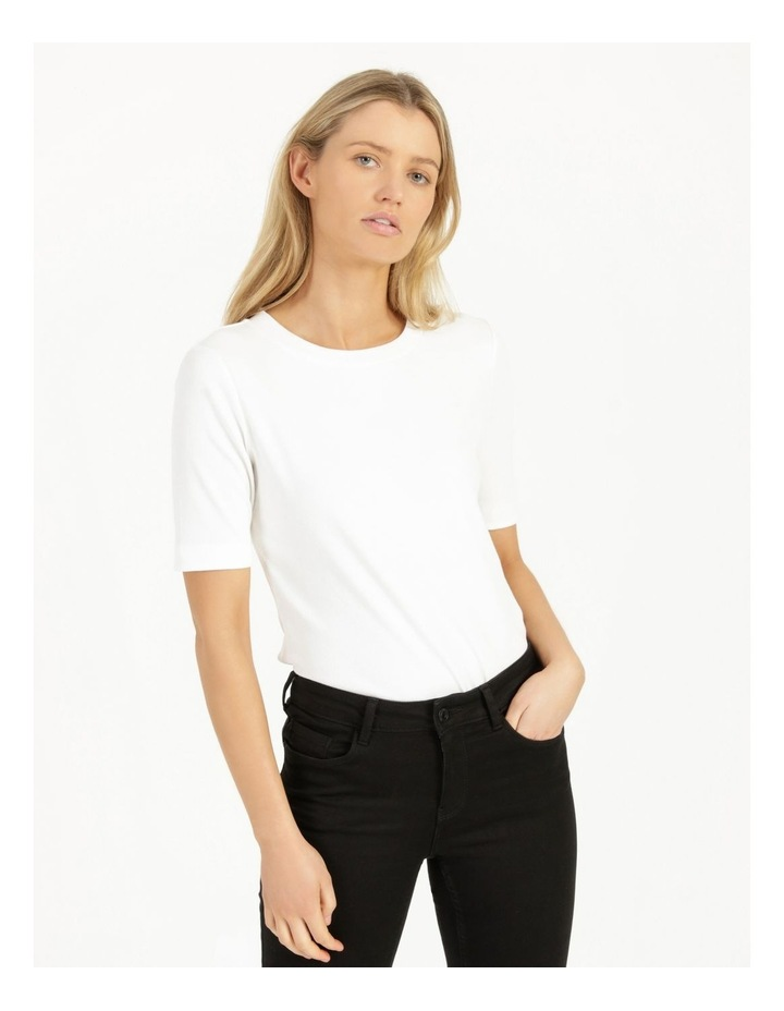Ribbed T-Shirt Ecru image 3