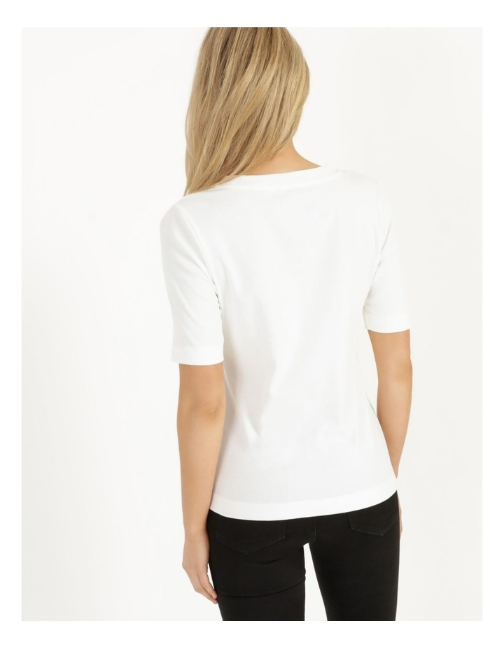 Ribbed T-Shirt Ecru image 5