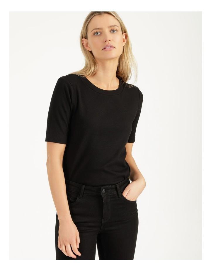 Ribbed T-Shirt Black image 1