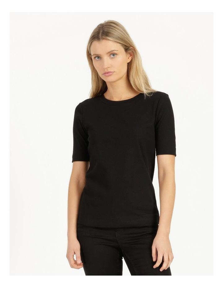 Ribbed T-Shirt Black image 2