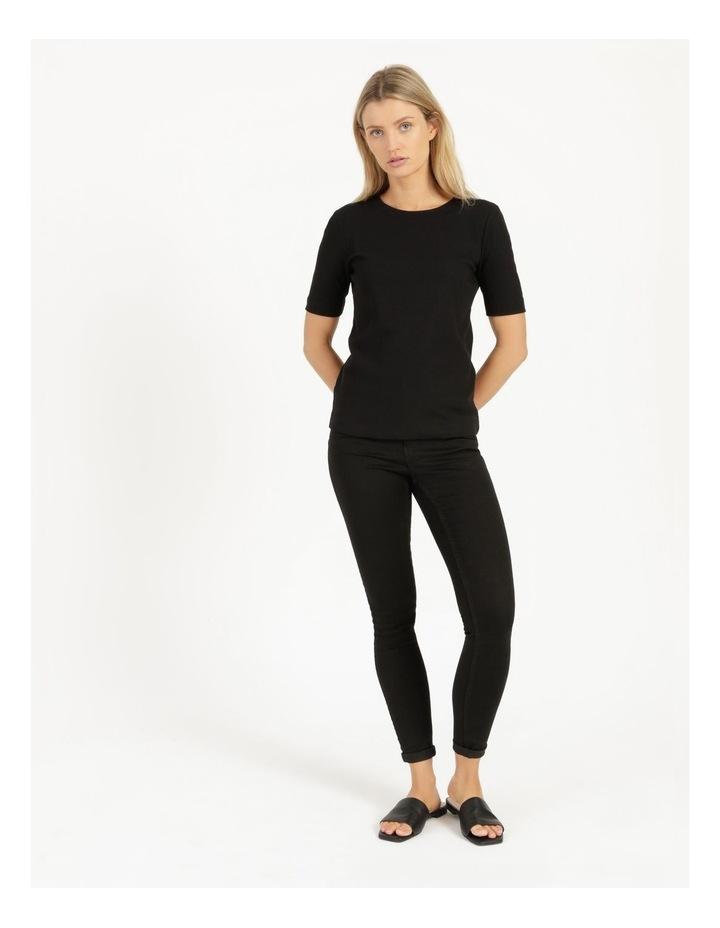 Ribbed T-Shirt Black image 3