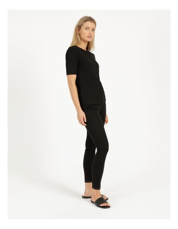 Ribbed T-Shirt Black image 4