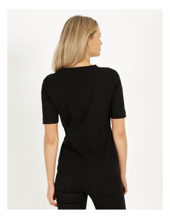 Ribbed T-Shirt Black image 5