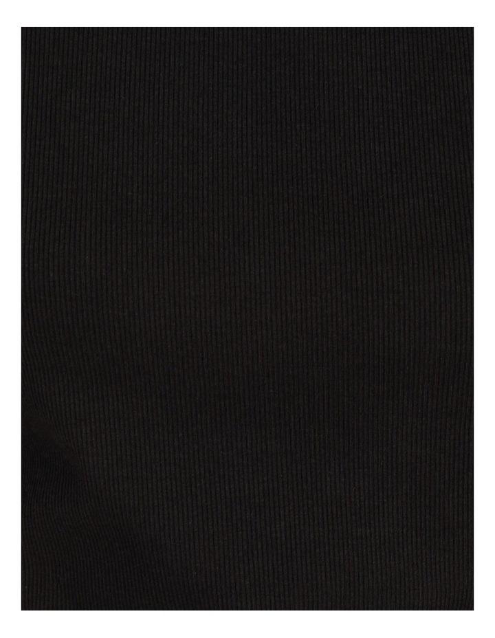 Ribbed T-Shirt Black image 7
