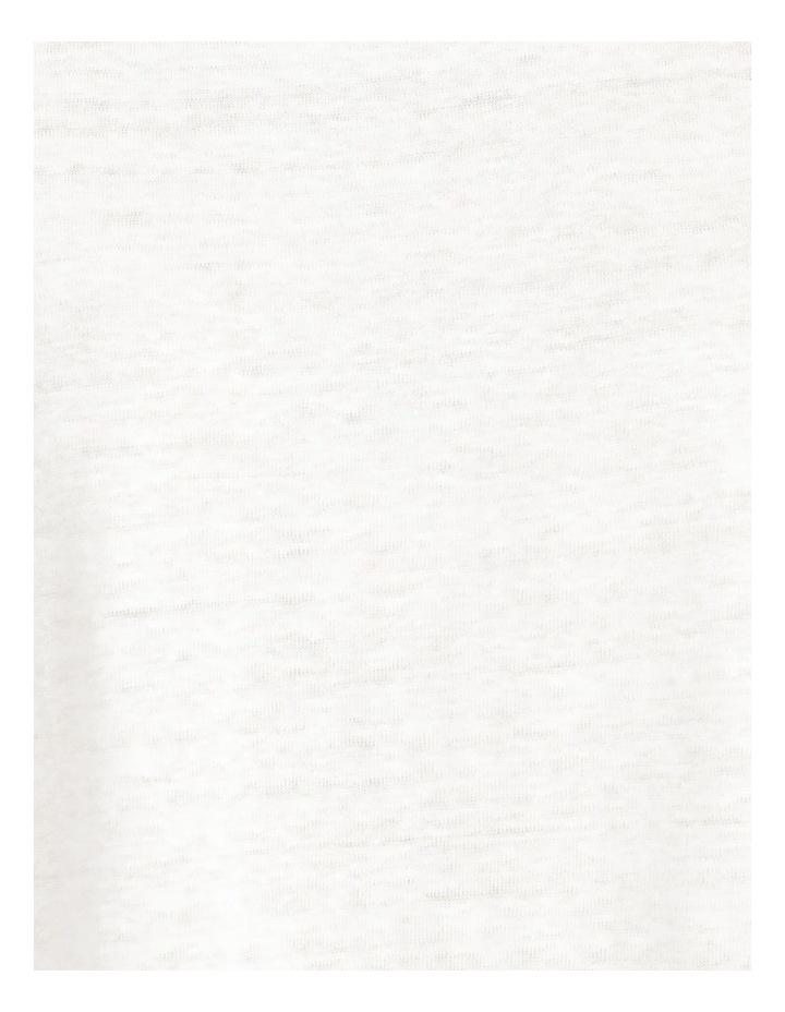 Linen Feature Cuff Tee Ecru image 6