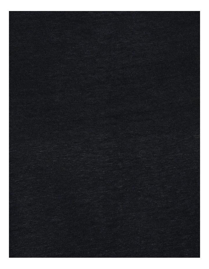 Linen Feature Cuff Tee Navy image 6