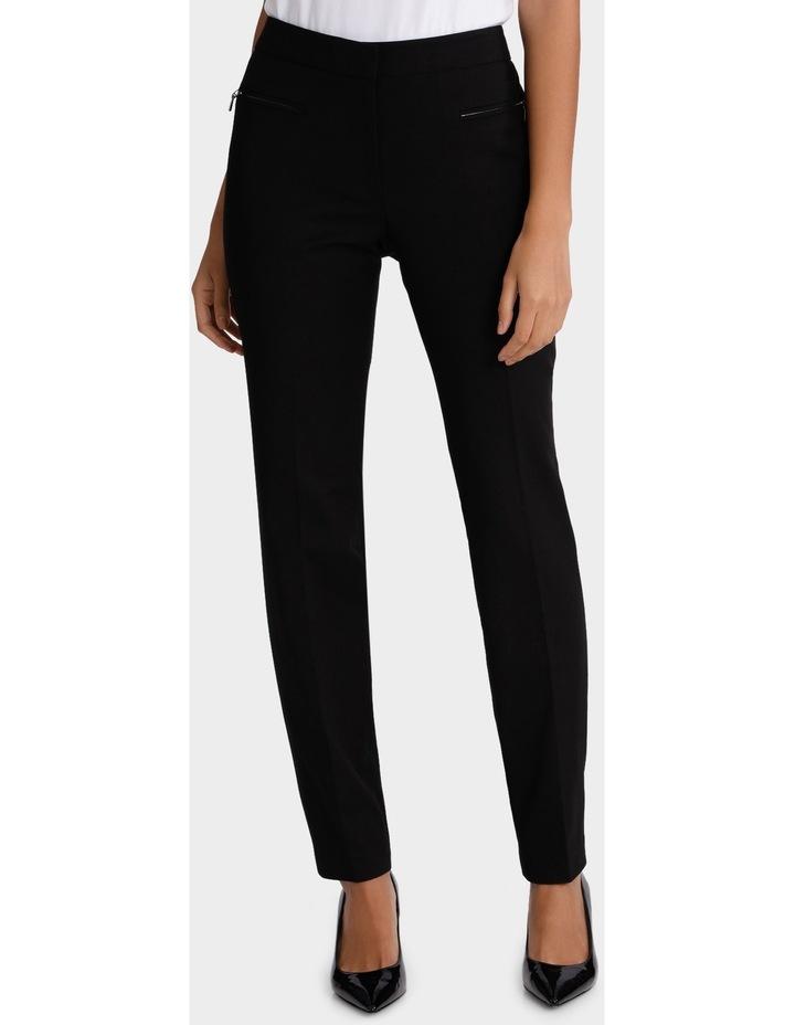 Zip Detail Slim Fit Pant image 1