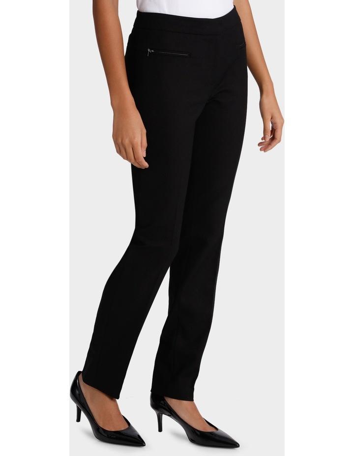 Zip Detail Slim Fit Pant image 2