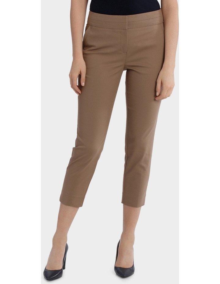 Cotton Sateen Cropped Pant image 1