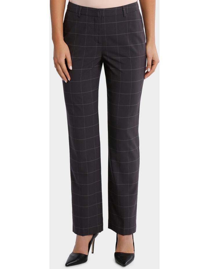 Window Pane Check Suit Straight Leg Pant image 1