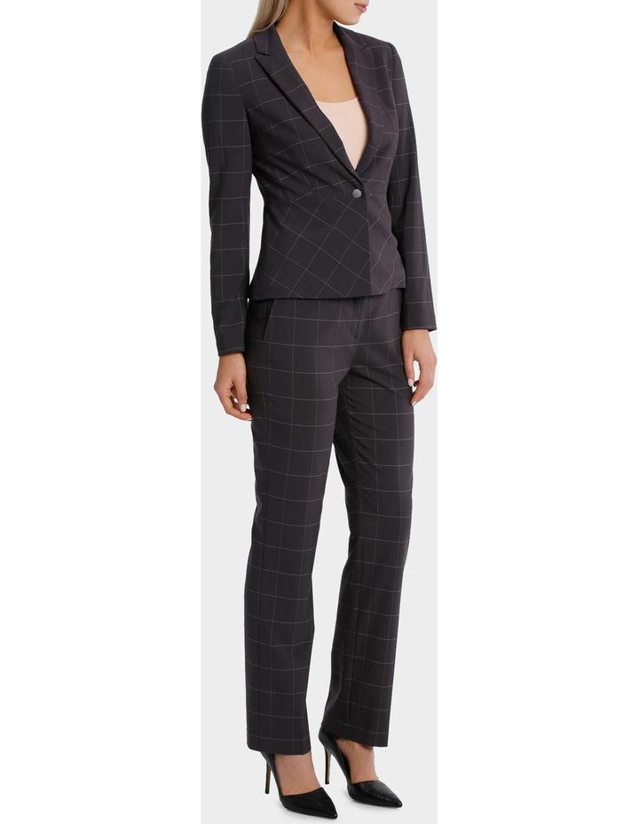 Window Pane Check Suit Straight Leg Pant image 2