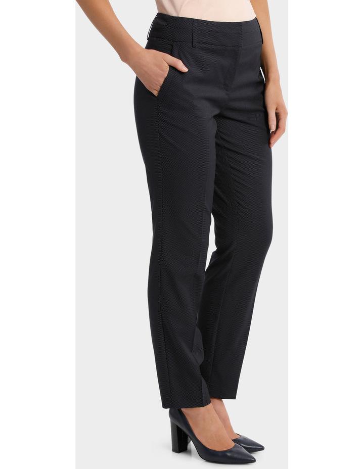 Navy Pin Dot Slim Leg Suit Pant image 2