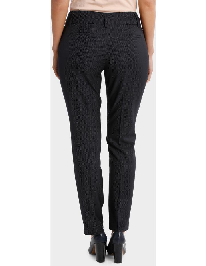 Navy Pin Dot Slim Leg Suit Pant image 3