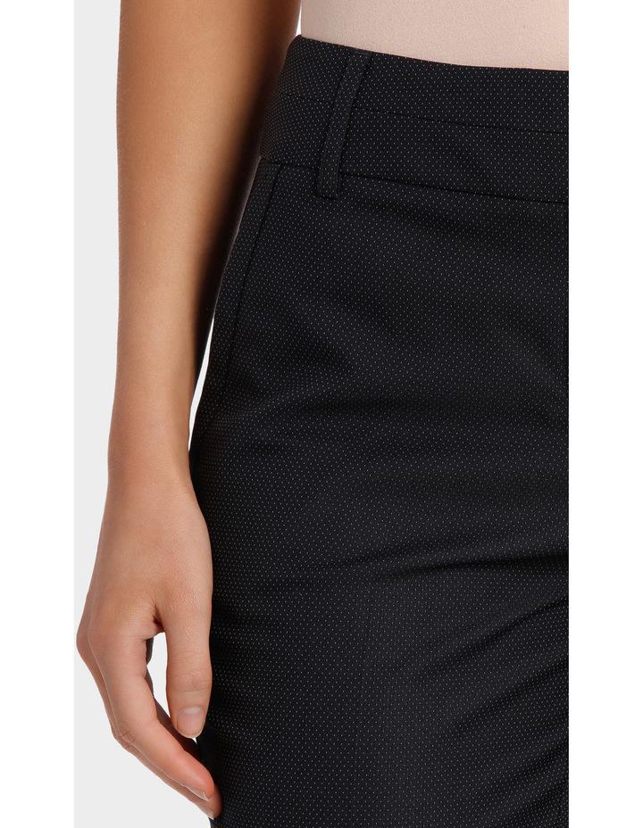 Navy Pin Dot Slim Leg Suit Pant image 4