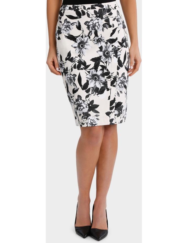 Photographic Floral Cotton Sateen Pencil Skirt image 1