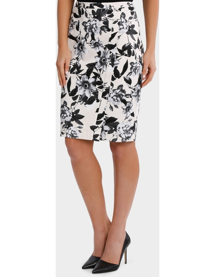 Photographic Floral Cotton Sateen Pencil Skirt image 2