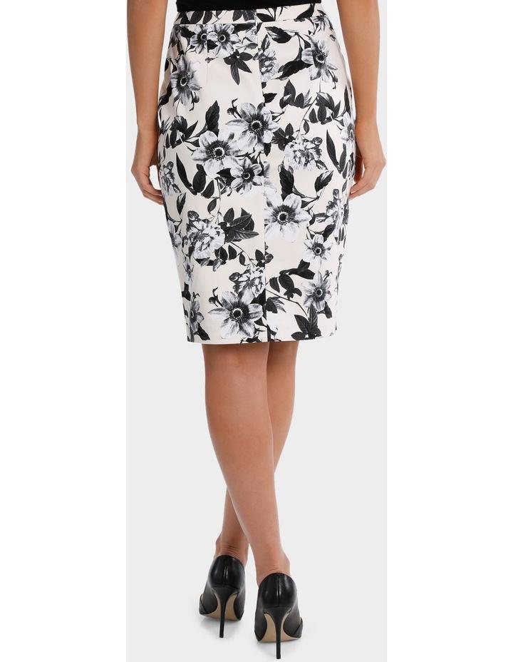 Photographic Floral Cotton Sateen Pencil Skirt image 3