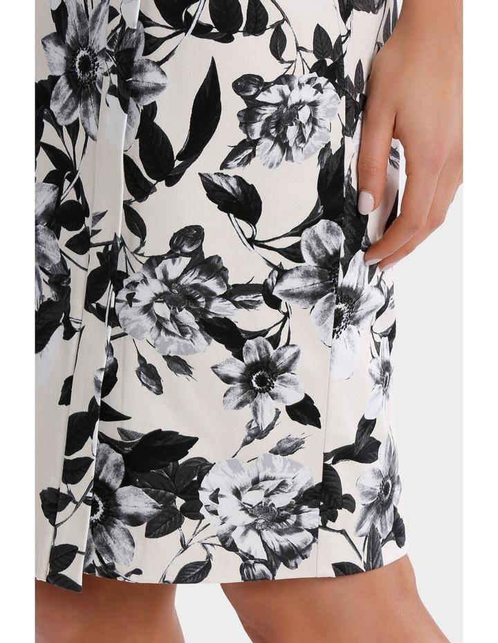 Photographic Floral Cotton Sateen Pencil Skirt image 4
